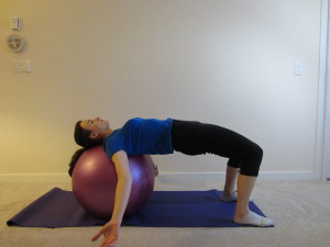 Hip Arthritis Ball Bridge for Hip Extension and Gluteal Strength